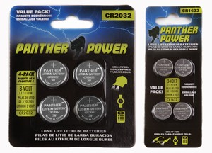4 Pack Battery for caps and glasses| Panthervision
